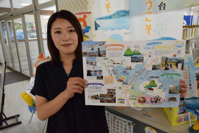 舞台地の話題スポットを集めた気仙沼旅マップ
