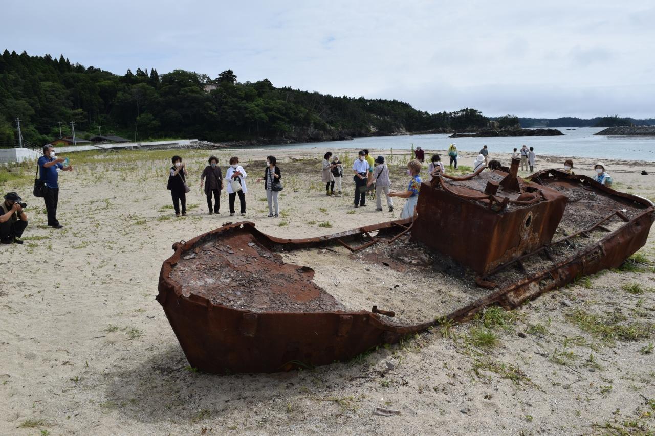 第1弾として大島を訪れた福島からのツアー客(7月)