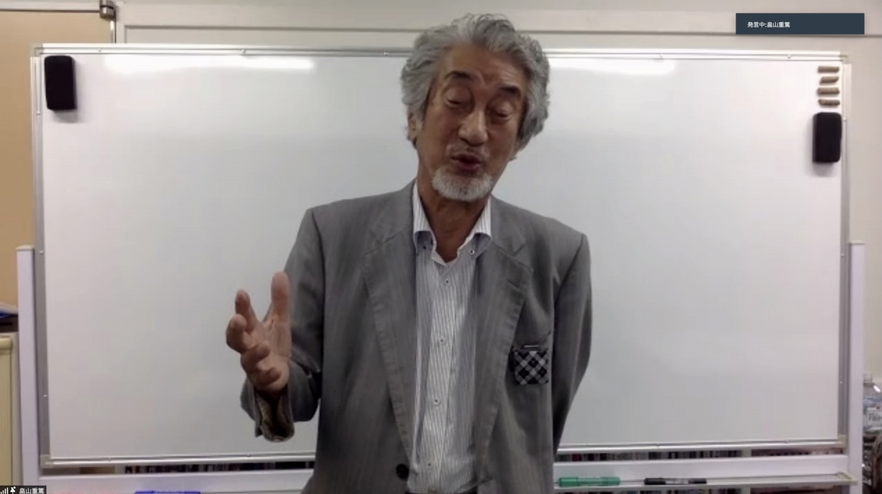 震災時の海の状況を語る畠山さん