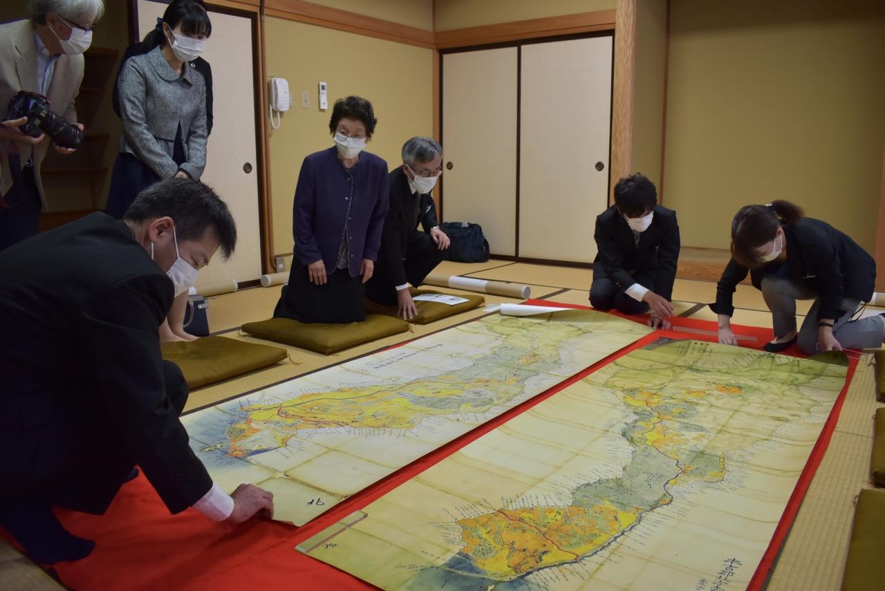 江戸時代の村絵図の複製が完成