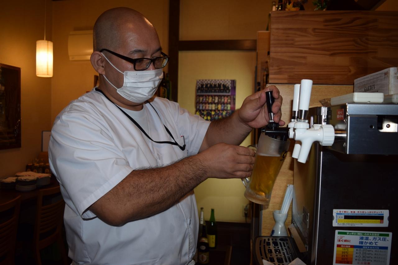 酒類提供の制限が解除された居酒屋(市内)